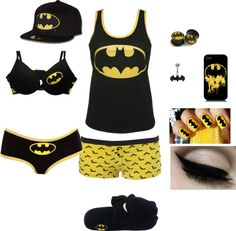 """Batman xD"" by foreverbroken ❤ liked on Polyvore"