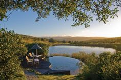 Kichaka Game Lodge, South Africa. Infinity pool overlooking the African Safari? Yes please!