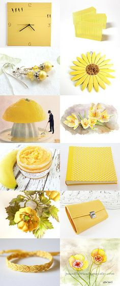 pastel yellow by Monika on Etsy--Pinned with TreasuryPin.com