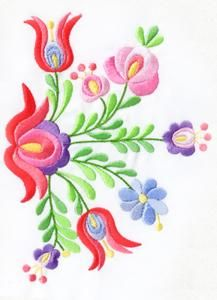Basic Embroidery Stitches, Hungarian Embroidery, Cute Embroidery, Flower Embroidery Designs, Machine Embroidery Designs, Flower Designs, Embroidery Patterns, Acrylic Painting Flowers, Sewing Cards