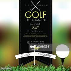 Golf tournament invitation design template