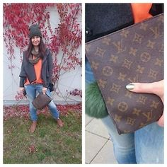 Yana - F And Top, Gate Hat, Louis Vuitton Bag, Pull And Bear Shoes - Orange top...is it hot?