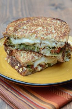 Turkey Pesto Grilled Cheese Sandwiches