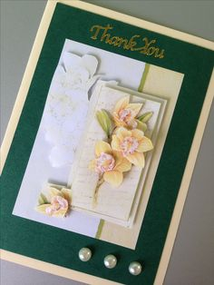 Paper tole thank you card