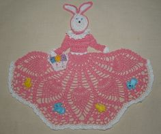 Easter Bunny Girl Doily Crochet Pattern by vjf25 on Etsy, $4.95