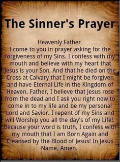 the sinners prayer