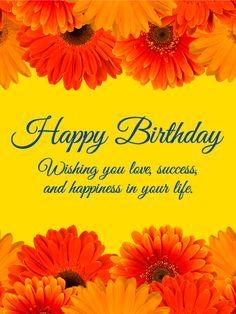 Charming Gerbera Happy Birthday Card