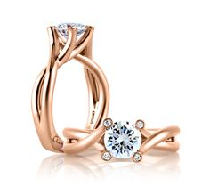 A. Jaffe MES592 Solitaire .03ctw Diamond Engagement Ring Setting