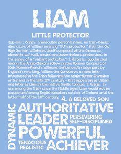 LIAM Personalized Name Print / Typography Print / by OhBabyNames