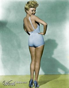 Betty Grable...the iconic pin-up poster...