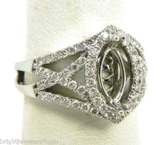 marquise engagement rings | ... 14k White Gold X Open Diamonds Marquise Semi-Mount Engagement Ring