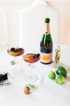 Charming Cocktails: Rosé Blackberry Fizz | Charmingly Styled