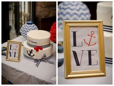DIY Nautical Themed Bridal Shower / Blue and Red Nautical Party. Amanda Erickson Design / South Jersey Photographer