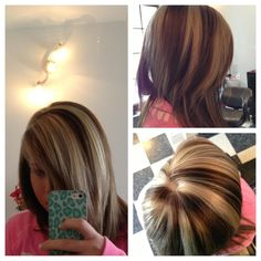 I love the chunky highlights.  And that shade of blonde is amazing.