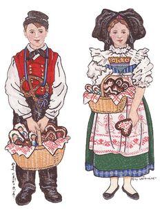 Gertwiller Lips Alsacien et alsacienne, images de pain d'épice / Pays de barr et du Bernstein