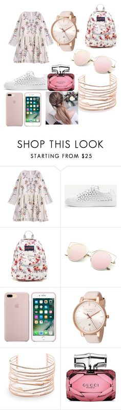 """""""DRESS UP"""" by rominalaurentiu ❤ liked on Polyvore featuring WithChic, JanSport, Ted Baker, Alexis Bittar and Gucci"""