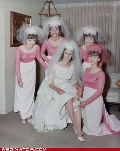 Early 1960s Was a junior bridesmaid in the 60's and had the exact same dress in yellow!