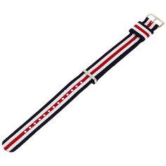 Daniel Wellington 0806DW Canterbury 18mm Multicolor Nylon Watch Strap