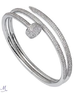 Cartier white gold and diamond bracelet - A new piece from Cartier's iconic Juste un Clou collection