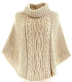 Aran cable-knit cowl poncho with buttons.Knitting Patterns Cowl here is a sweaterThis Pin was discovered by hya Knitted Cape, Hand Knitted Sweaters, Knitted Shawls, Poncho Shawl, Poncho Sweater, Poncho Knitting Patterns, Hand Knitting, Handgestrickte Pullover, Amazon Fr