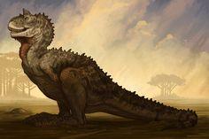 Carnotaurus by Brynn Metheney :: For Paleo Post