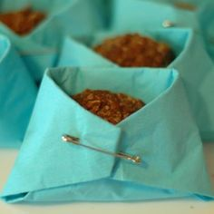 Oat, Peanut Butter and Cocoa Doo Doo Drop in Paper Napkin Diapers:  thriftyfun