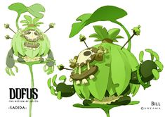 Dofus - Character Designs for Return of Julith (Cancelled) by Bill Otomo Game Character Design, Character Creation, Character Design References, Character Concept, Character Art, Creature Concept Art, Creature Design, Pen & Paper, Cool Monsters