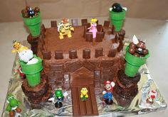 Easy Bowser Castle Cake