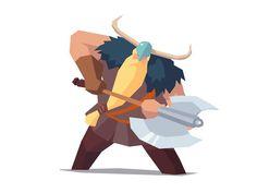 Viking Axeman designed by Ariel Belinco. Viking Character, Game Character, Character Concept, Concept Art, Character Design, Fantasy Illustration, Character Illustration, Digital Illustration, Arte Nerd