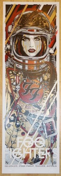 2015 Foo Fighters - Melbourne Silkscreen Concert Poster by Rhys Cooper at JoJo's Posters