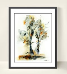 Tree Watercolor Print from Original Watercolor by CanotStopPrints