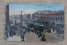 Emporia, Kansas Early 1900s Postcard, Unused, Opening Street Car Line 1911 by MendozamVintage on Etsy