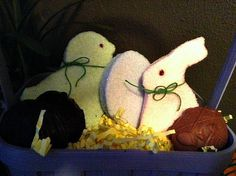 Handcrafted Marshmallow Easter Figures