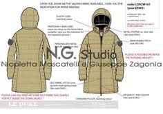 - by Giuseppe Zagonia Work Sheet, Tech Pack, Girls Flats, Tartan Fabric, Technical Drawing, Fashion Flats, Men And Women, Man, Military Jacket