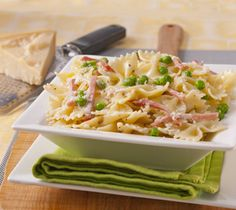 Thrifty Foods - Recipe - Pasta Alfredo with Ham and Peas