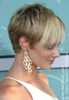 When I lose the rest of my weight I'm cutting my hair like this. <3