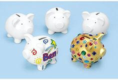 Decorate A Piggy Bank  Set of 12 Item  PIGGY ** More info could be found at the image url.