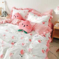 Room Ideas Bedroom, Girls Bedroom, Bedroom Decor, Bedrooms, Cute Room Ideas, Cute Room Decor, Pastel Room, Pink Room, Peach Bedding