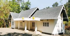 3 Bedroom Lovely Budget Home Design in 1100 Square Feet in Lakhs with Free Plan - Free Kerala Home Plans New House Plans, Small House Plans, Single Floor House Design, Bamboo Construction, Kerala House Design, Kerala Houses, Bedroom House Plans, Home Pictures, Square Feet