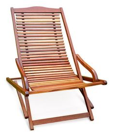 Love this Reclining Folding Chaise Outdoor Lounge Chair by VIFAH on #zulily! #zulilyfinds