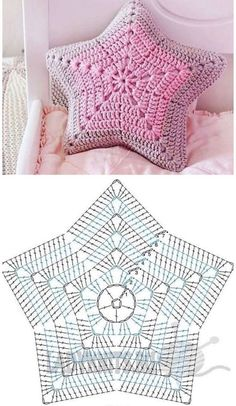 Decorative Pillows 52768 Receive more than 3 thousand crochet and amigurumi recipes in your email. Tap the image to learn Crochet Motifs, Crochet Diagram, Crochet Doilies, Crochet Flowers, Crochet Stitches, Crochet Blocks, Crochet Simple, Love Crochet, Knit Crochet