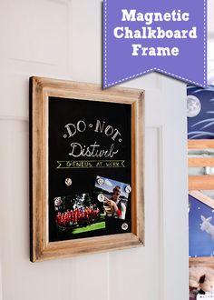 Upcycled Magnetic Chalkboard Frame