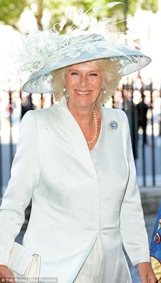 Camilla Duchess of Cornwall arrives at the church this morning