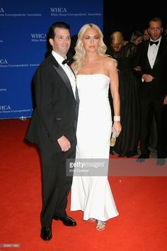 (L) and Vanessa Trump attend the White House Correspondents' Association Dinner on April 2016 in Washington, DC.they look cruel, but that's just me. Vanessa Trump, White House Correspondents Dinner, Strapless Dress Formal, Formal Dresses, Donald Trump Jr, Bridesmaid Dresses, Wedding Dresses, Washington Dc, Campaign