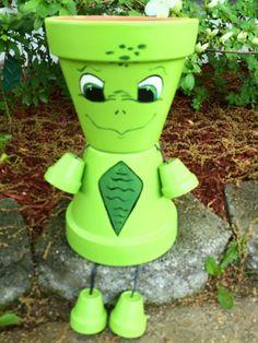 Turtle Pot Person
