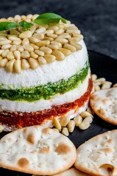 This easy Pesto Sun Dried Tomato Cream Cheese Spread is an amazing make ahead appetizer for a party. Layers of basil pesto, sun dried tomatoes, and cream cheese are perfect for spreading on a piece of crusty Italian bread! Italian Appetizers, Appetizers For Party, Appetizer Recipes, Appetisers, Easy Make Ahead Appetizers, Healthy Appetizers, Party Snacks, Tapas, Cream Cheeses