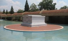 Popular locations in Atlanta's Civil Rights District include Martin Luther King Jr.'s tomb (shown), the Historic Ebenezer Baptist Church, where King was baptized and ordained and where his funeral was held, and the King Birth Home, a Queen Anne-style house where he lived for the first dozen years of his life. (From: Photos: 20 Essential American Destinations )