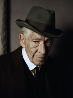 Ian McKellen as Sherlock Holmes – The actor has tweeted a picture of himself in costume as an aged version of the sleuth in a film adaptation of Mitch Cullen's novel A Slight Trick of the Mind (Mr.Holmes, 2015).