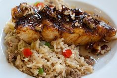 Cajun Halibut with Dirty Rice -- Made this the other night with Chilean Sea Bass...YUM