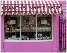 old fashioned sweet shop in Salcombe, Devon UK